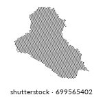 abstract map of iraq dots... | Shutterstock .eps vector #699565402
