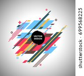 abstract vector background with ... | Shutterstock .eps vector #699568225