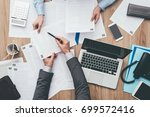 business people working at... | Shutterstock . vector #699572416