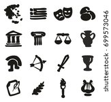 greece icons freehand fill | Shutterstock .eps vector #699573046