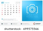 calendar design template with... | Shutterstock .eps vector #699575566