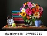 back to school. september 1 ... | Shutterstock . vector #699583312