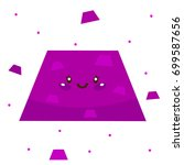 cute shape  purple trapezoid ... | Shutterstock .eps vector #699587656