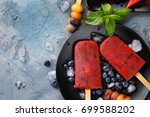 fruit ice from watermelon ... | Shutterstock . vector #699588202