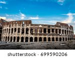 italian architecture of rome.... | Shutterstock . vector #699590206