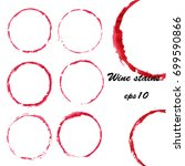 watercolor wine stains. wine... | Shutterstock .eps vector #699590866