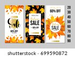 set of autumn sale flyer... | Shutterstock .eps vector #699590872
