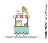 ice cream truck   cart on... | Shutterstock .eps vector #699590962