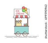 ice cream truck   cart on... | Shutterstock .eps vector #699590962