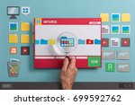 antivirus protection software... | Shutterstock . vector #699592762