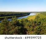 view of river daugava in sunny...   Shutterstock . vector #699599725