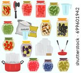 preserving fruits and... | Shutterstock .eps vector #699601942