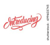 introducing word calligraphic... | Shutterstock .eps vector #699603745