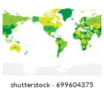 world map in four shades of... | Shutterstock .eps vector #699604375