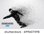 silhouette of a snowboarder...   Shutterstock .eps vector #699607498