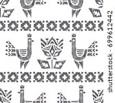 tribal american indian vector... | Shutterstock .eps vector #699612442