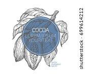 cocoa beans vector illustration....   Shutterstock .eps vector #699614212