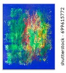 Small photo of Abstract art. Abstract art background. Oil painting on canvas. Multicolored bright texture. Fragment of artwork. Spots of oil paint. Brushstrokes of paint. Modern art. Contemporary art.