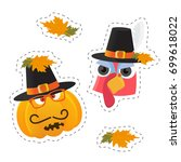 vector stickers templates for... | Shutterstock .eps vector #699618022