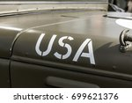 usa paint on the hood of a...   Shutterstock . vector #699621376