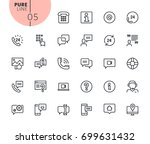 set of mobile service and... | Shutterstock .eps vector #699631432