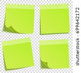 sticky note with shadow... | Shutterstock .eps vector #699642172