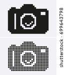 photo or camera pixel. vector... | Shutterstock .eps vector #699643798