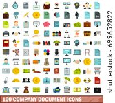 100 company document icons set... | Shutterstock .eps vector #699652822