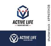 active life logo design...   Shutterstock .eps vector #699655438