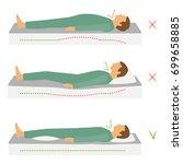 sleeping correct health body...   Shutterstock .eps vector #699658885
