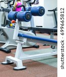 Small photo of Fitness equipment in a fitness hall