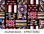 seamless geometric pattern in... | Shutterstock .eps vector #699672082