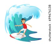surfing water extreme sports ... | Shutterstock .eps vector #699676138