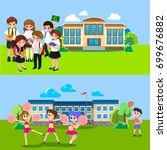 back to school concept for... | Shutterstock .eps vector #699676882
