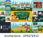 back to school set of... | Shutterstock .eps vector #699676912