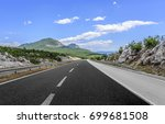 high speed country road among... | Shutterstock . vector #699681508