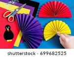 making souvenir for... | Shutterstock . vector #699682525