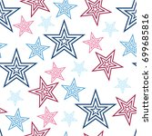 seamless red white and blue...   Shutterstock .eps vector #699685816