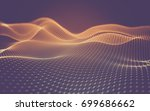 abstract polygonal space low... | Shutterstock . vector #699686662