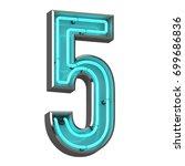 3d neon number five | Shutterstock . vector #699686836