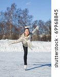 pretty girl skating   Shutterstock . vector #69968845