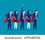 super team of business.... | Shutterstock .eps vector #699688906