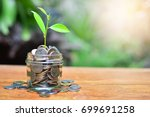 coins growth to profit concept... | Shutterstock . vector #699691258