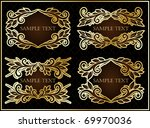 vector set with gold framed... | Shutterstock .eps vector #69970036