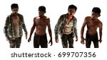 scary zombies on white... | Shutterstock . vector #699707356
