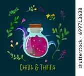poisonous potion. cute bottle... | Shutterstock .eps vector #699713638