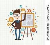 businessman concept design... | Shutterstock .eps vector #699726952