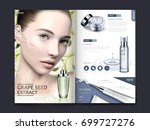 cosmetic magazine or catalog... | Shutterstock .eps vector #699727276