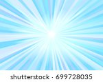 blue light ray vector | Shutterstock .eps vector #699728035