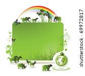 green earth banner  background... | Shutterstock .eps vector #69972817